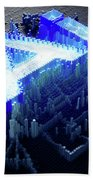 Pixel Artificial Intelligence Beach Towel