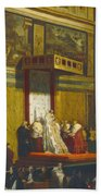 Pope Pius Vii In The Sistine Chapel Beach Towel