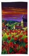 Poppies In Foy Beach Towel