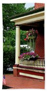 Porch With Hanging Plants Beach Towel
