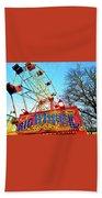Portable Ferris Wheel Victorian Winter Fair Beach Towel