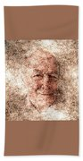 Portrait Of A Father Beach Towel