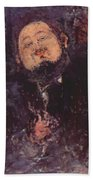 Portrait Of Diego Rivera 1914  Beach Towel