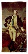 Portrait Of George Washington Beach Towel by Charles Willson Peale
