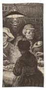 Potato Eaters, 1885 Beach Towel