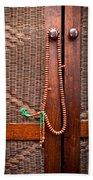 Prayer Beads Beach Towel by Tom Gowanlock