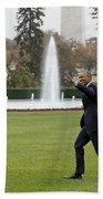 President Obama - White House South Lawn #1 Beach Towel