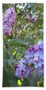 Purple Flowers Beach Towel