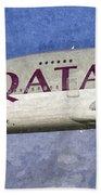 Qatar Airlines Airbus A380 Art Beach Towel