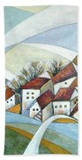 Quiet Village Beach Towel
