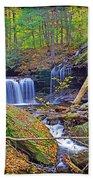 R B Ricketts Falls In Autumn Beach Towel