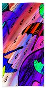 Rainy Day Love Beach Towel
