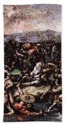 Raphael The Battle At Pons Milvius  Beach Towel