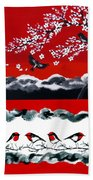 Red And Black Beach Towel