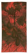 Red Hell  Beach Towel