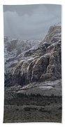 Red Rock Canyon Snow Storm Beach Towel