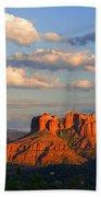 Red Rocks Sunset Beach Towel