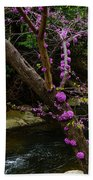 Redbud And River Beach Towel