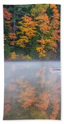 Reflection Of Fall Beach Towel