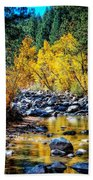 Reflections Of Gold Beach Towel