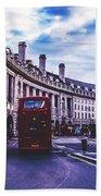 Regent Street In London Beach Towel