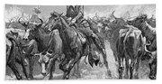Remington: Cowboys, 1888 Beach Towel