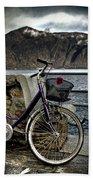 Retro Bike Beach Towel by Joana Kruse