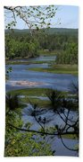 River And Trees Beach Towel