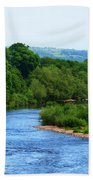 River Wye From Hay-on-wye Bridge Beach Towel