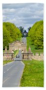 Road To Burghley House Beach Towel