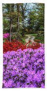 Road With Flowers Beach Towel