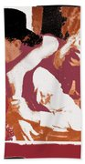 Robert Mitchum Hauls Angie Dickinson Collage Young Billy Young Old Tucson Arizona 1968-2013 Beach Towel