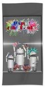 Robo-x9 Celebrates Freedom Beach Towel