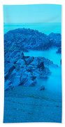 Rock Formations On The Coast, Central Beach Towel