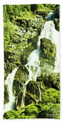 Rocky Mountain Waterfall Beach Towel