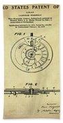 Rolex Watch Patent 1999 In Sepia Beach Towel