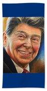 Ronald Reagan Portrait Beach Towel