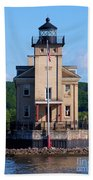 Rondout Lighthouse On The Hudson River New York Beach Towel