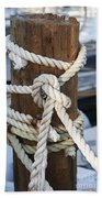 Rope Fence Fragment Beach Towel