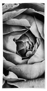 Rose Closeup In Monochrome Beach Towel