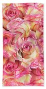 Roses Background Beach Towel