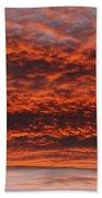 Rosy Sky Beach Towel by Michal Boubin
