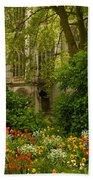 Rouen Abbey Garden Beach Towel