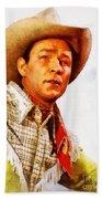 Roy Rogers, Vintage Western Legend Beach Towel