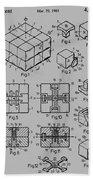 rubik's cube Patent 1983 Beach Towel