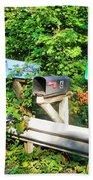 Rural Mailboxes  Beach Towel