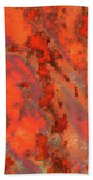 Rust Abstract Beach Towel
