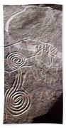 Saharan Rock Painting Beach Sheet