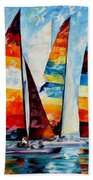Sail Regatta Beach Towel