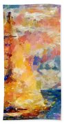 Sailing In The Sea Beach Towel